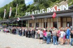 Long line on Pilatus Bahn